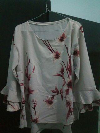 #mauthr blouse wanita bunga
