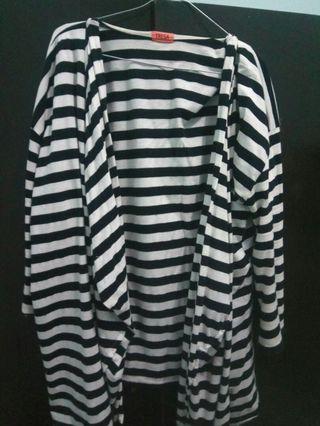 #mauthr cardigan stripe wanita