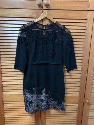 🚚 Black Lace Dress