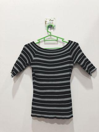 Black Stripe with white Top