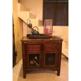古董手繪雕花櫃