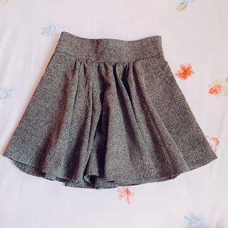 BN Grey High Waist Skater Skort Short Skirt