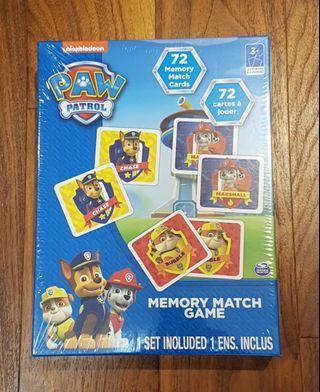 Paw Patrol Memory Match Game - New