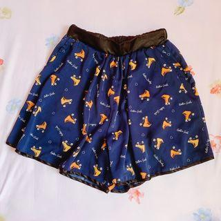 BN High waist short roller blade blue Skort Skirt
