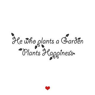 Planting is happiness..