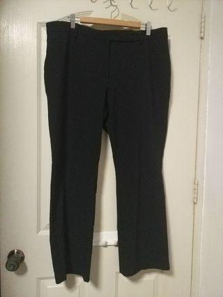 Plus Size Black Work Pants (UK18)