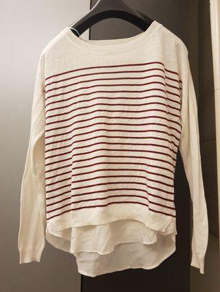 Esprit 海軍風紅白條紋設計款上衣