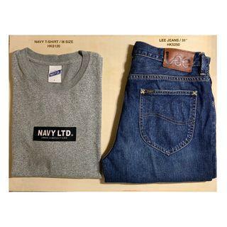 LEE short trousers / NAVY T-shirt