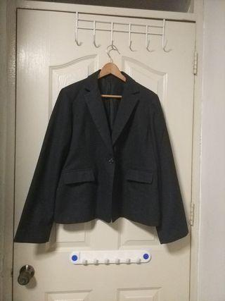 Plus Size dark grey blazer (UK16 / UK18)
