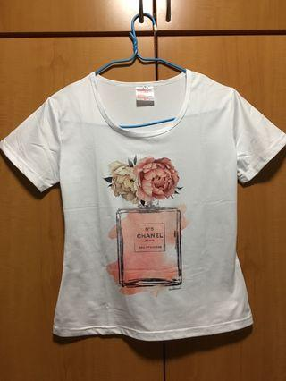 Chanel number 5 cotton tee top t-shirt