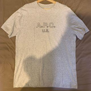 A.P.C. Logo T-shirt 灰 美國製