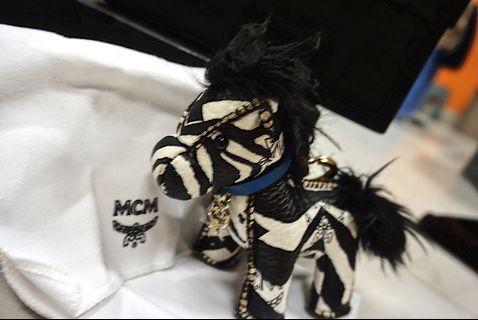 MCM zebra keychain