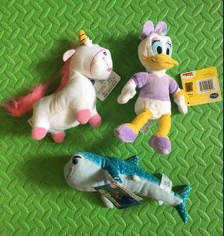 正版迪士尼公仔:Daisy、Dory鯊魚、小黃人角馬