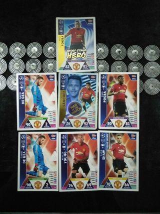 Match Attax Champions league Manchester United