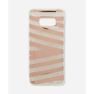 Samsung S9 Typo Phone Case Rose Gold Stripe Pre-Owned
