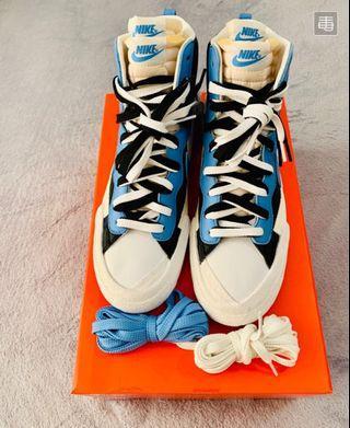 Us9 Nike×Sacai blazer mid black blue