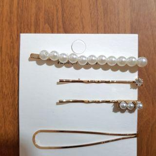 Pearl clips - 4pc