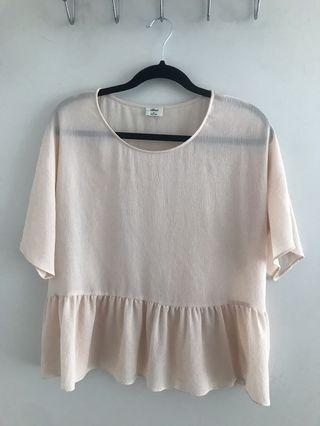 Wilfred sheer blouse - Size Medium from Aritzia