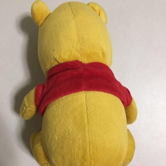 迪士尼 小熊維尼 毛公仔 ( 正版 Winnie the Pooh Hong Kong Disneyland ) 原價約$150