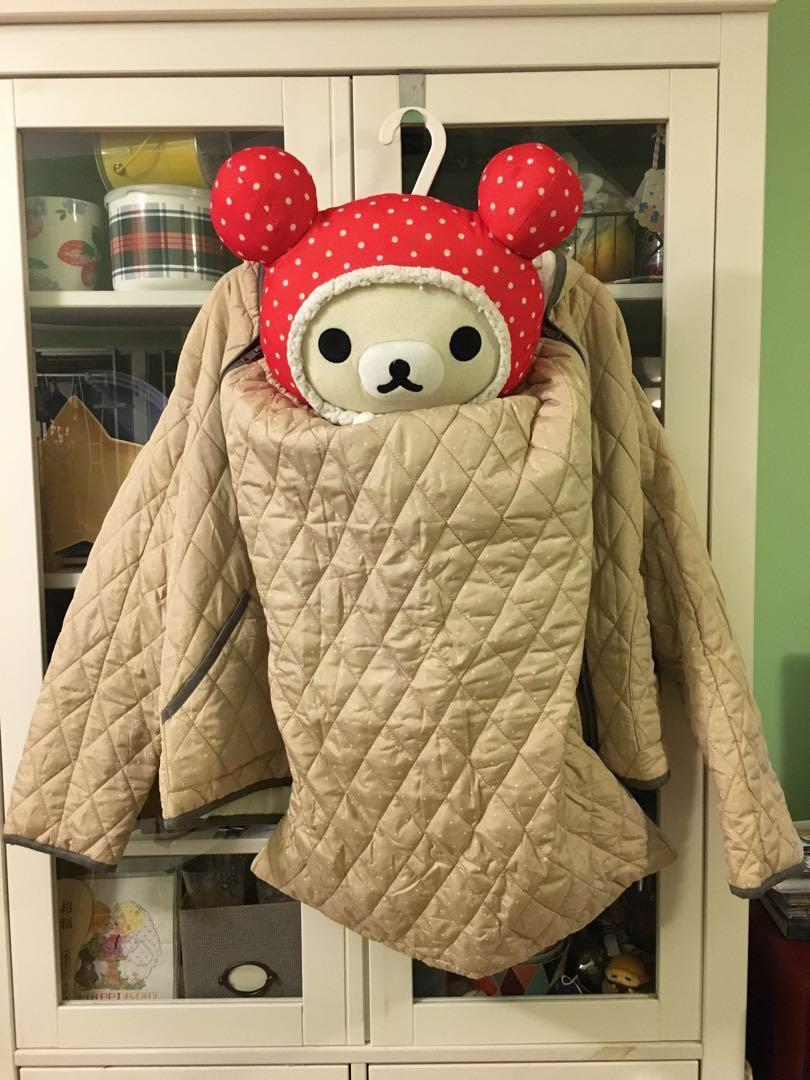 全新日本母嬰親子保暖拉鍊夾克外套,孭帶適用 #summer19