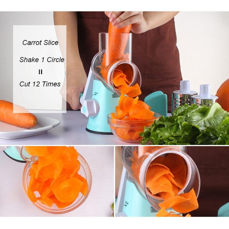 Alat Parut Sayuran Round Blades Slicer - CW83651 - Blue