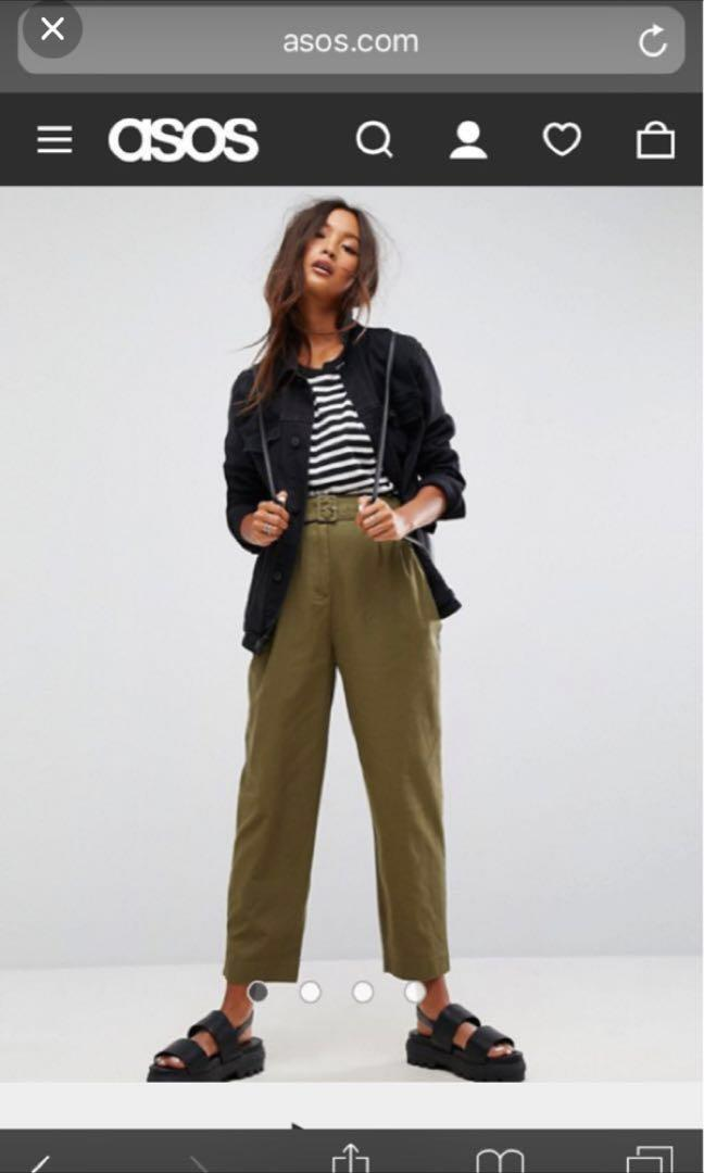 ASOS wide leg trousers