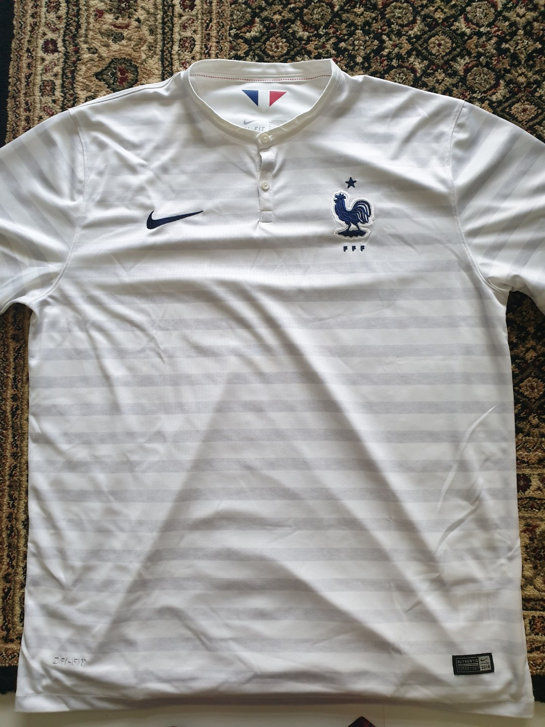 on sale 07255 8841e Authentic Nike World Cup 2014 France Away Jersey XL, Sports ...