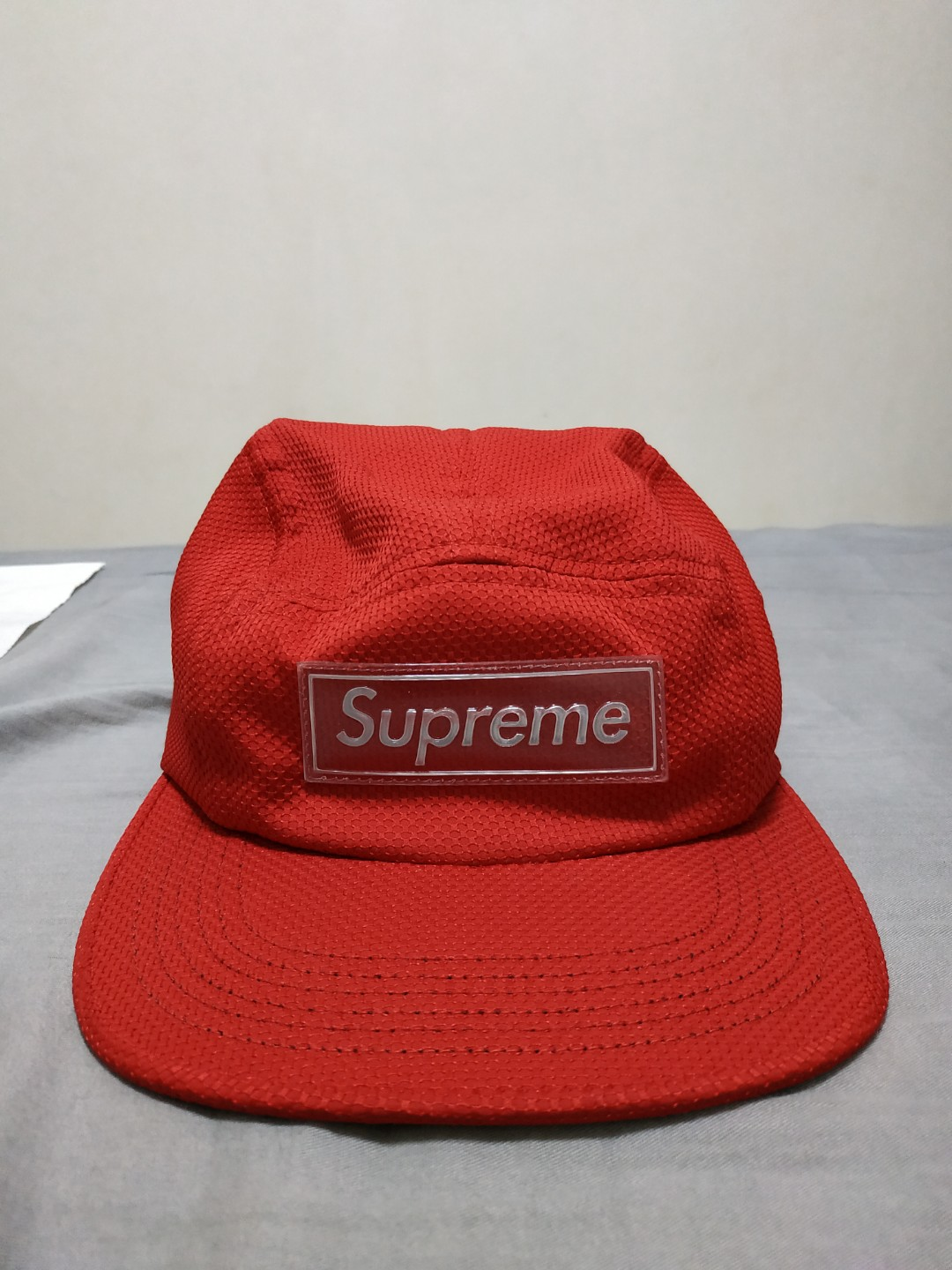 5af7075a Authentic red supreme nylon cap from stockx. Up for trades too, Men's  Fashion, Accessories, Caps & Hats on Carousell