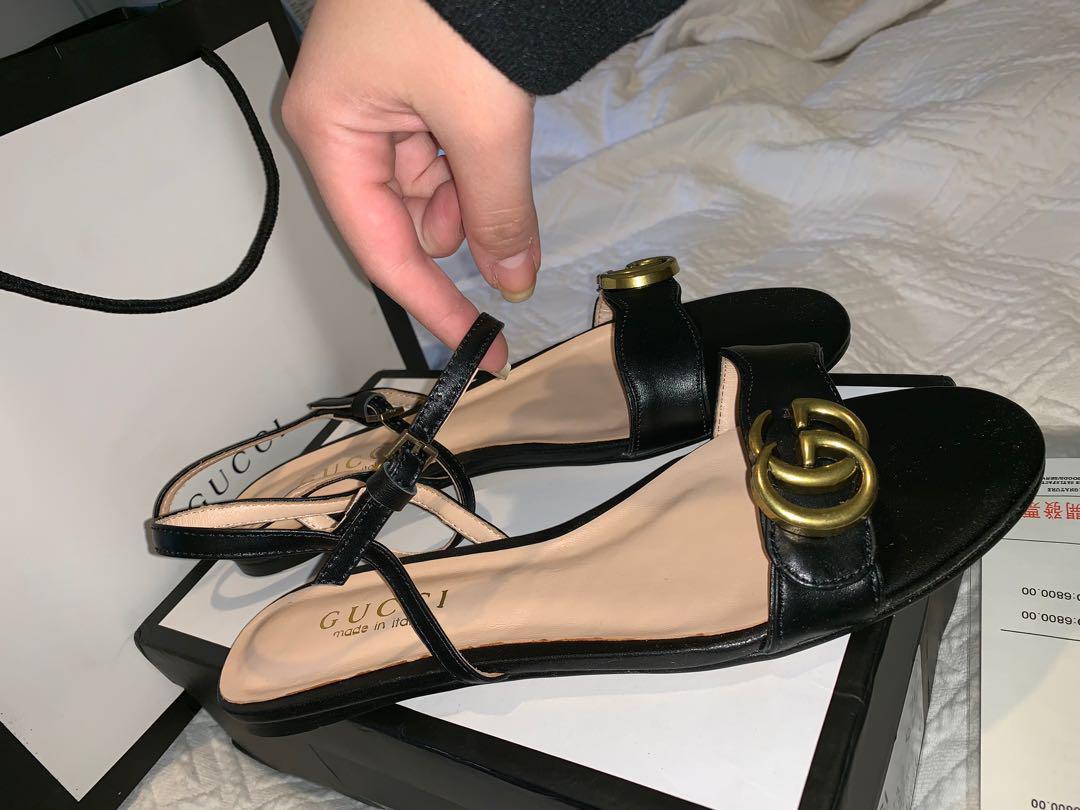 Black GG Sandal size 10
