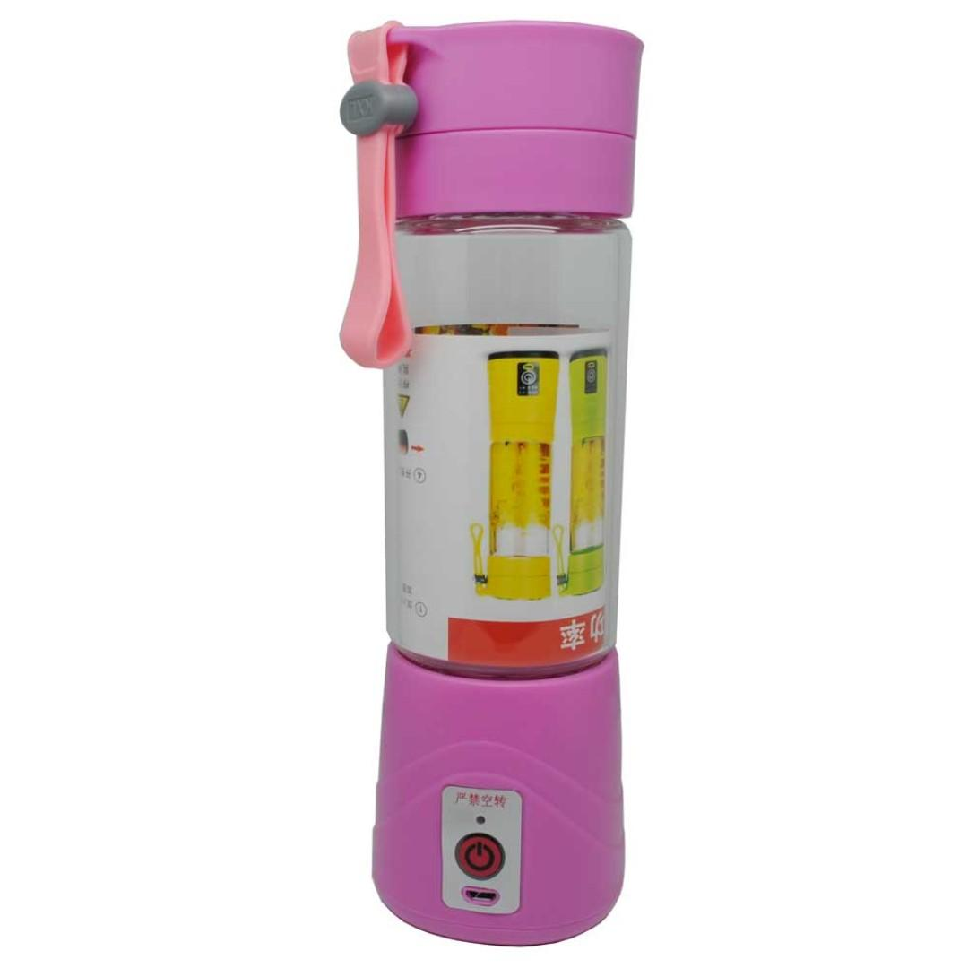 Blender Jus Portable 380ml - Pink