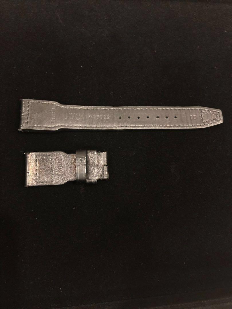IWC Big Pilot Black Leather strap (Lugs width: 22mm & clasp width 18mm)
