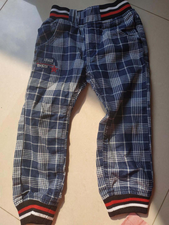 Celana jeans kotak kotak anak balita