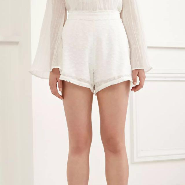 C/Meo Collective shorts ivory