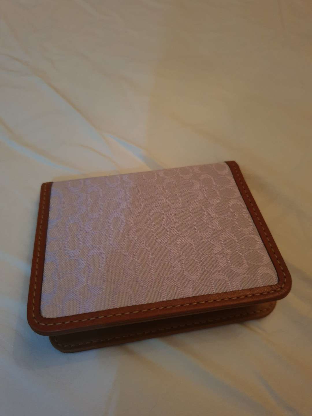 Coach leather mixed namecard holder