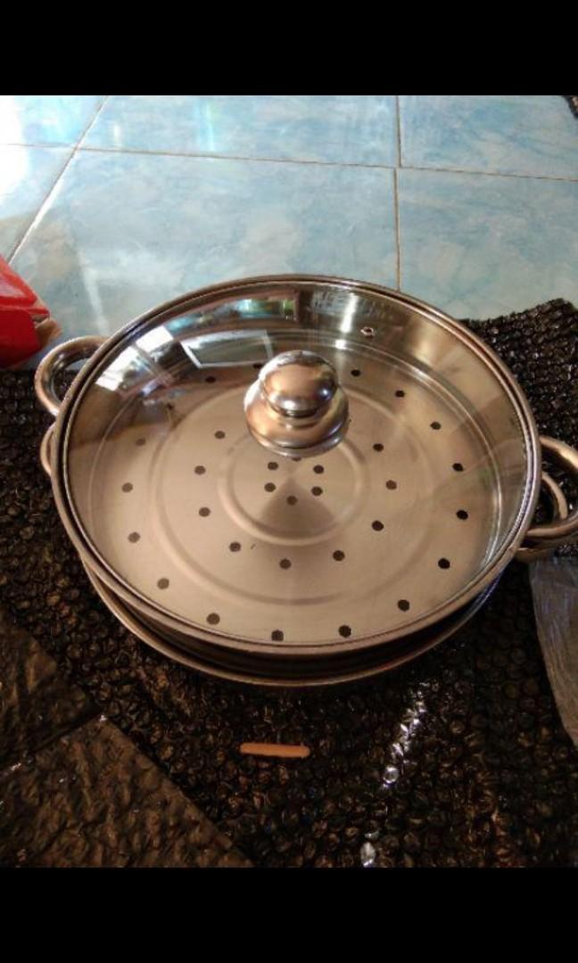 Dandang Steamer Panci Kukus Stainless 28-Steamer Pan FREE ONGKIR JABODETABEK