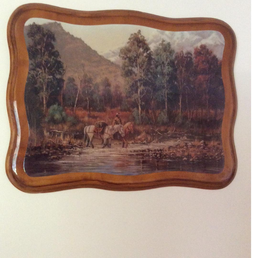 Epoxy Wooden picture ' American Frontier'