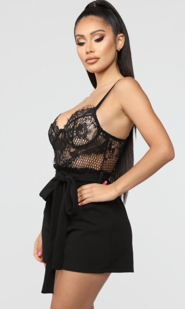 Fashion Nova Not So Complicated Lace Romper SMALL $30