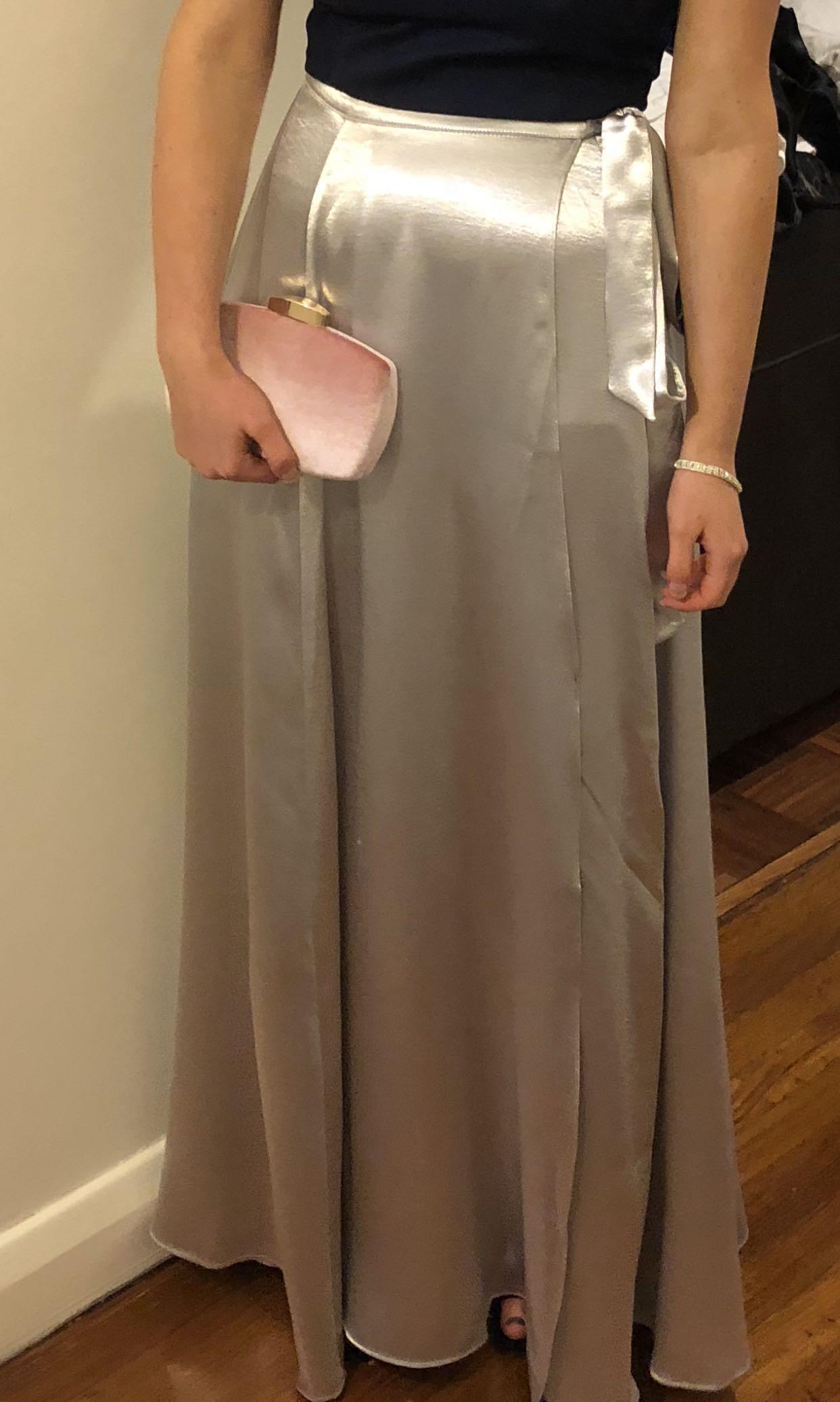 Formal wrap around skirt
