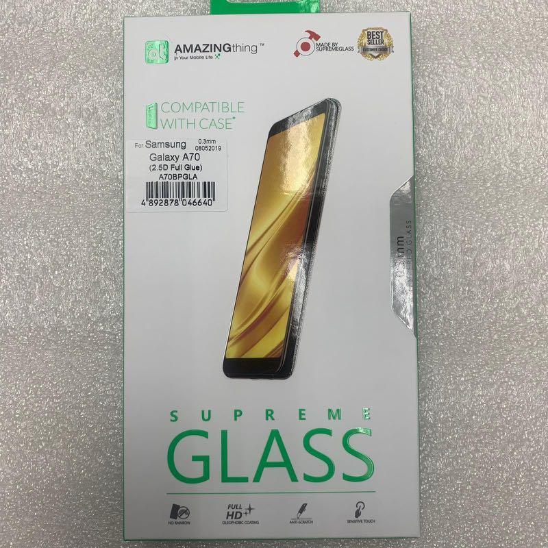 (Galaxy A70) AmazingThing Supreme Tempered Glass