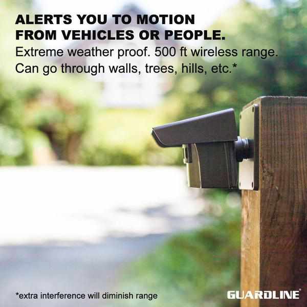 Guardline Wireless Driveway Alarm Outdoor Weather Resistant Motion Sensor &  Detector- Best DIY Security Alert