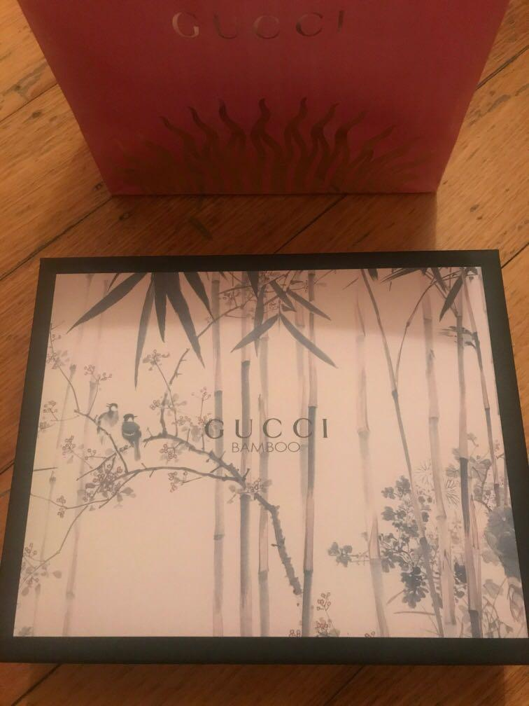 Gucci pink limited edition Box & paper Bag authentic