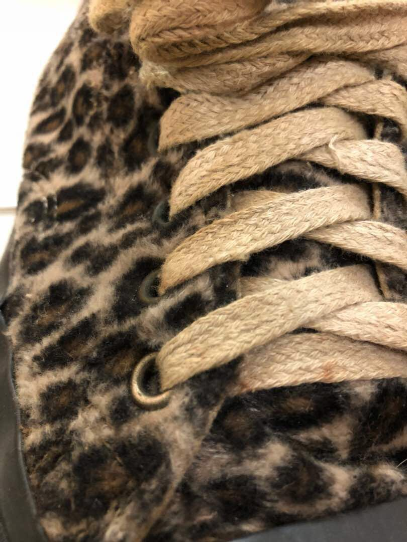 Jack Purcell Leopard Fur Preloved by Converse