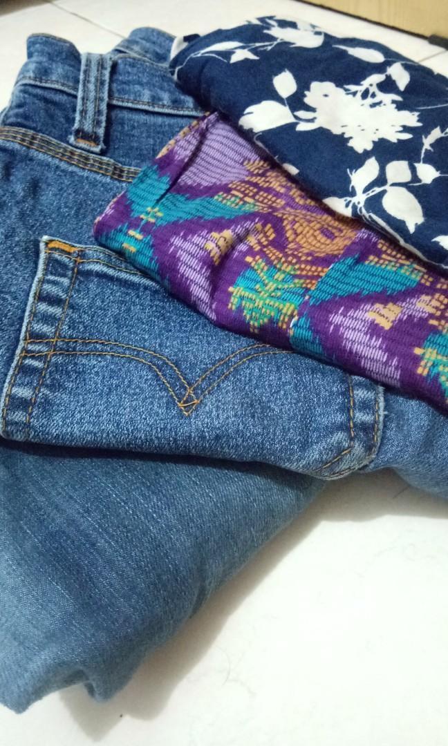 Jeans dan celana motif bekas untuk kerajinan #mauthr