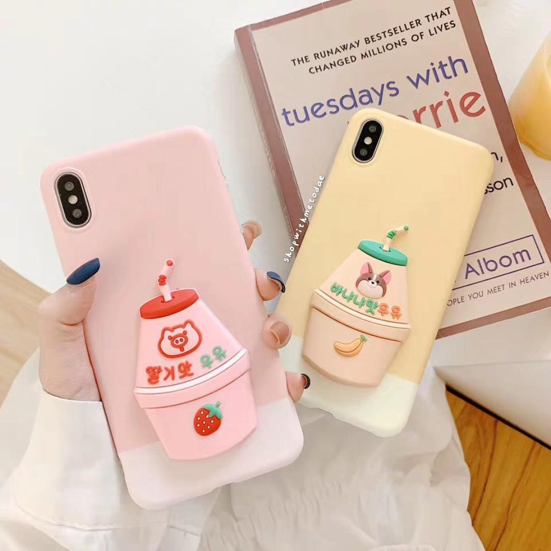 Korean Binggrae Banana Milk Iphone Xr Xs Max X Casing Mobile Phones Tablets Mobile Tablet Accessories Cases Sleeves On Carousell