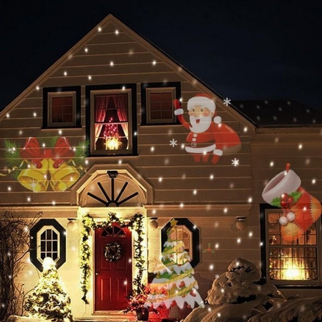 Lampu Sorot LED Outdoor Change Card RGB 12 Pattern - LM-2118 - Black