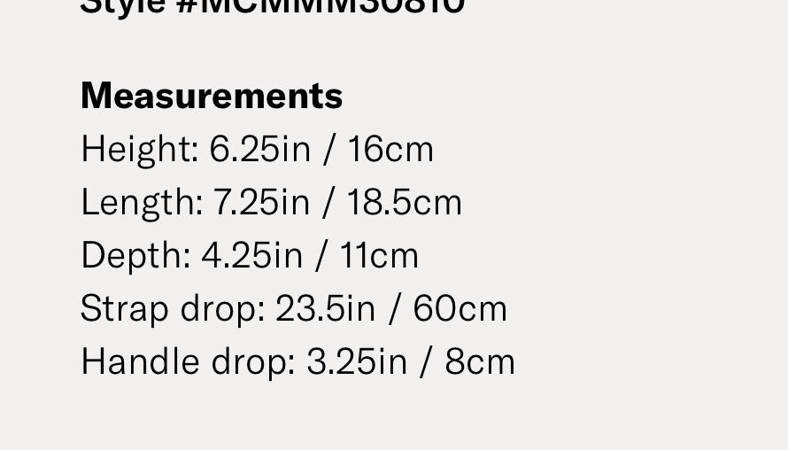 MCM mini 小包