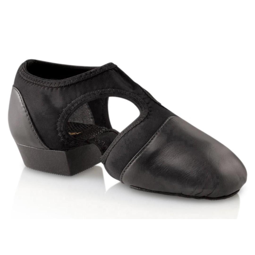 New Capezio Pedini Femme Jazz Shoes Tan and Black Size 8M