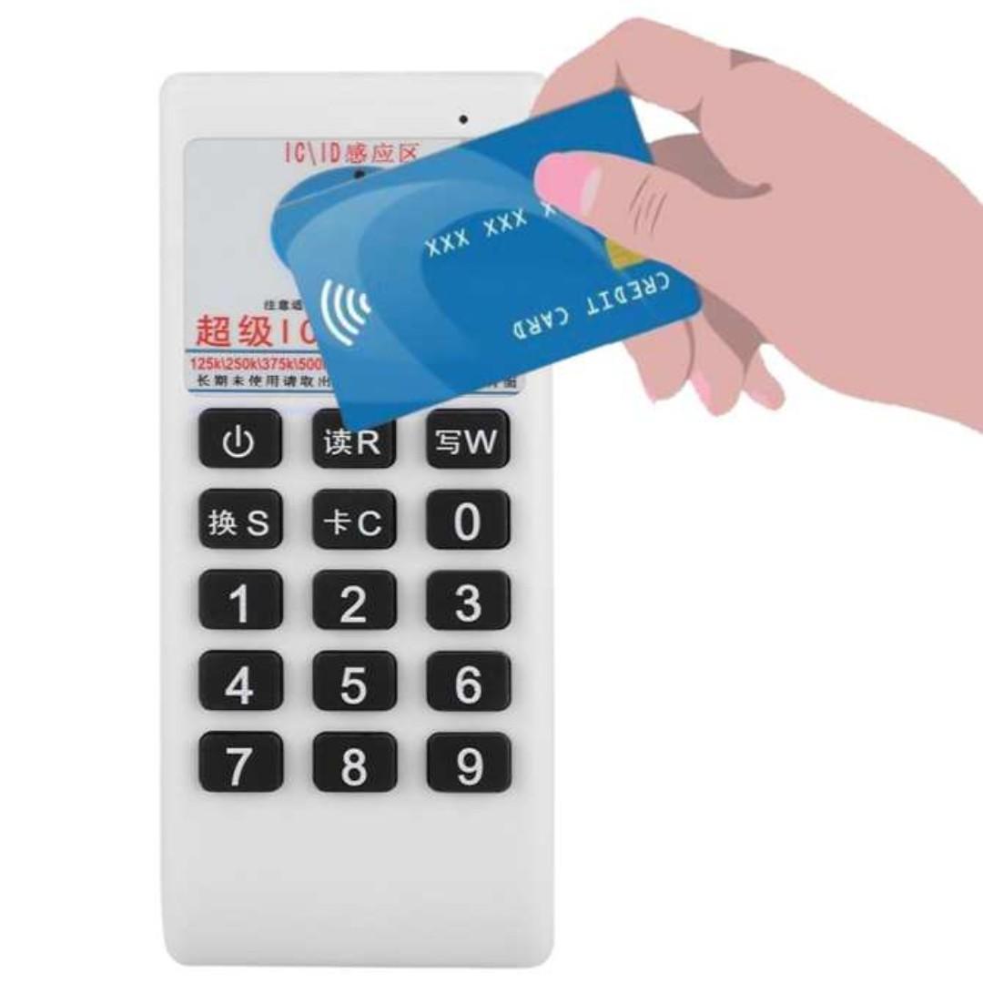 New Handheld RFID IC/ID Card Reader Writer Copier Duplicator 125Khz 13 56MHZ
