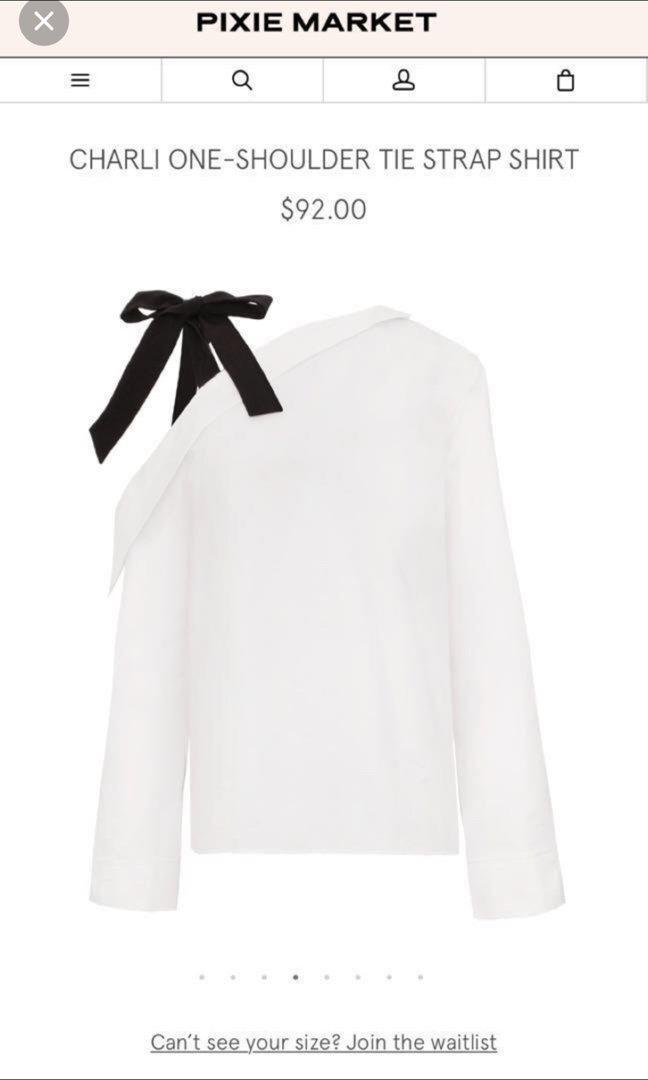 Pixie market one shoulder tie strap shirt *price dropped*