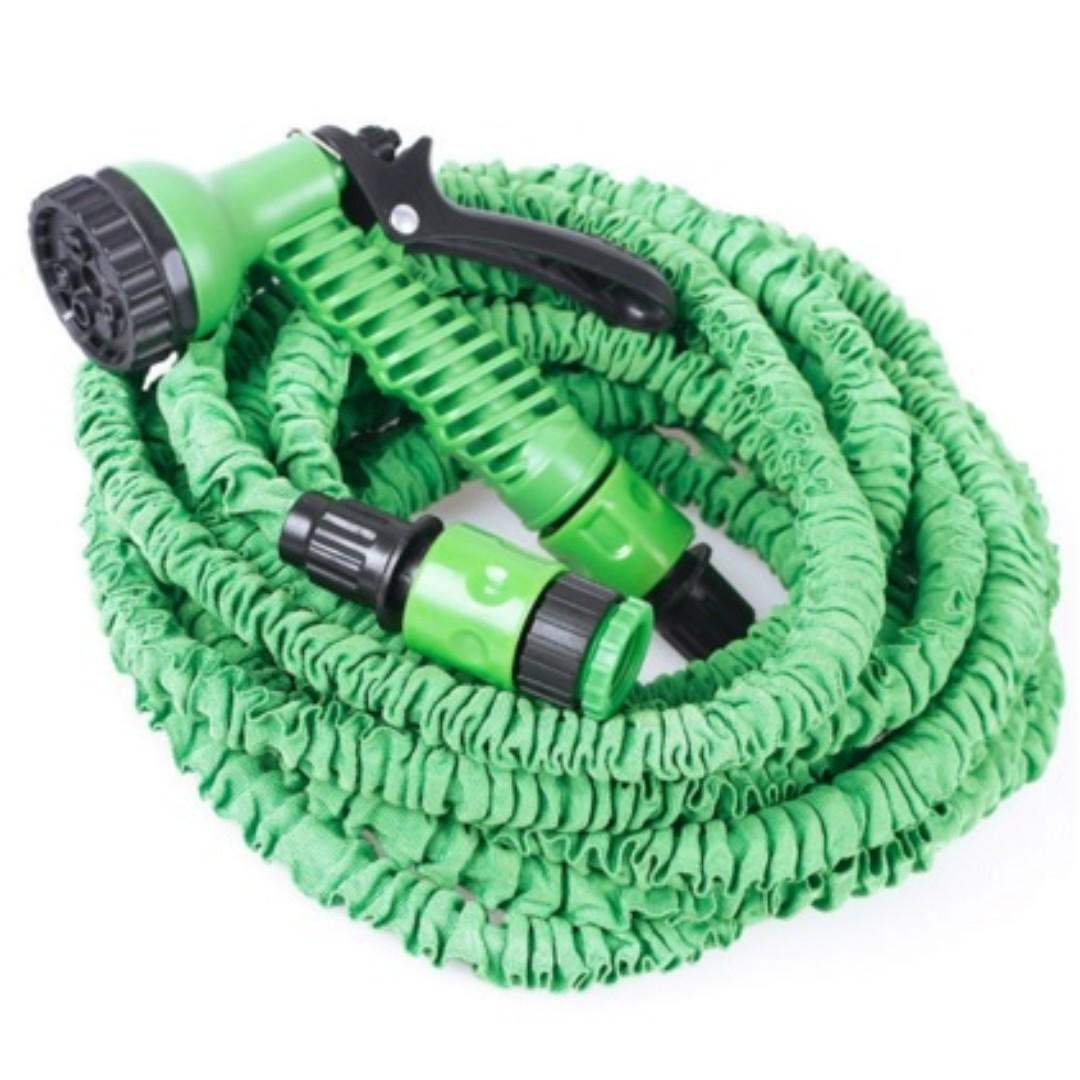 Pocket Hose Top Brass / Selang Fleksibel Portable - Length : 7.5-22.5m - Green